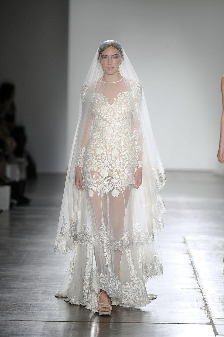 Belle Veil on the New York Fashion Week Catwalk www.whenfreddiemetlilly.com.au