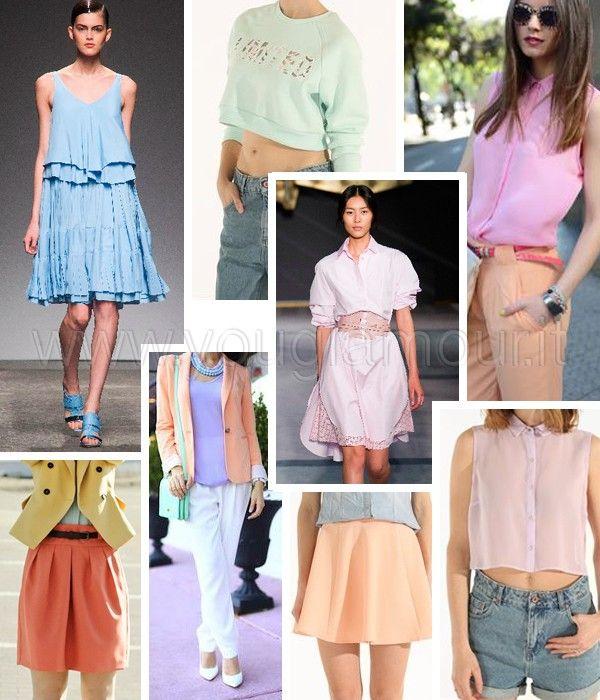Tendenze moda primavera 2014, abiti nei colori pastello>> www.youglamour.it