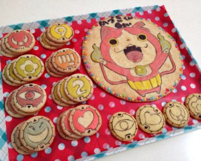 妖怪ウォッチ、キャラクター、作り方、プリント風クッキー