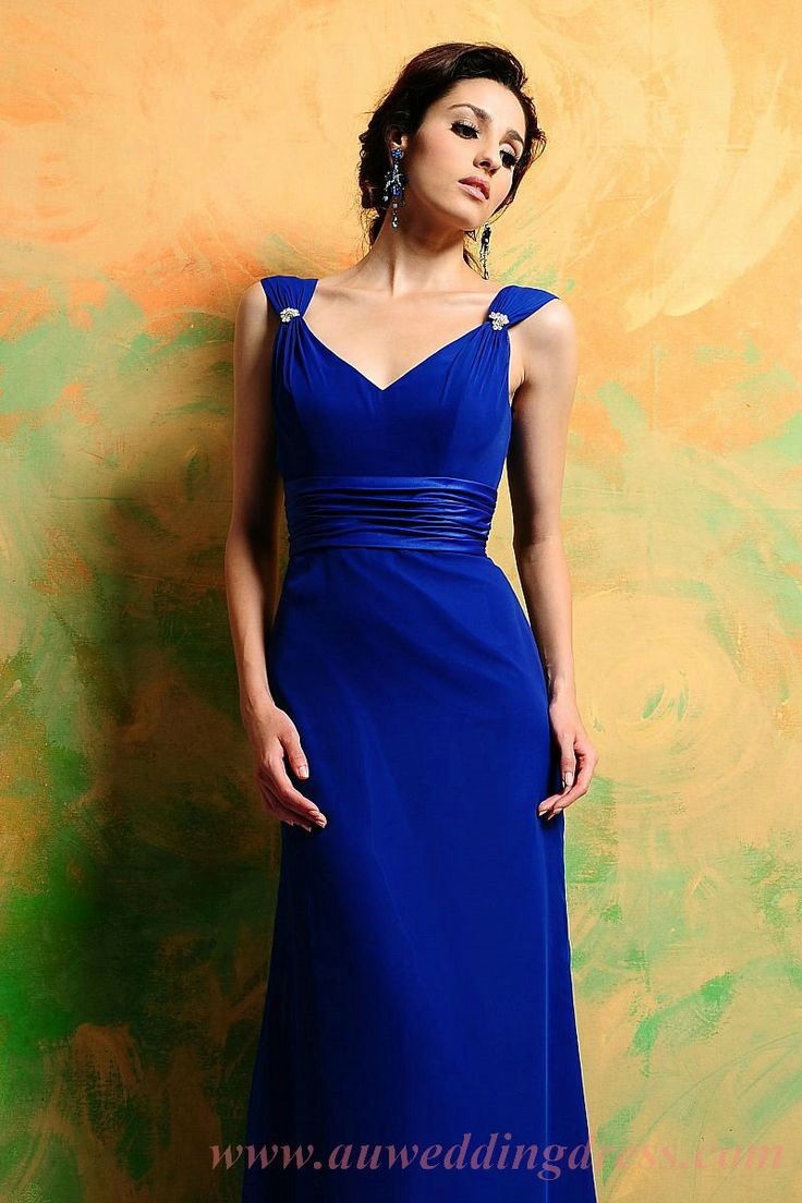 7 best bridesmaids dresses ideas images on pinterest best sister 2012 spring style sheath column v neck ruffles sleeveless floor length chiffon royal blue bridesmaid dress prom dress evening dress ombrellifo Image collections