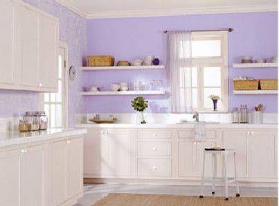 purple kitchen paint