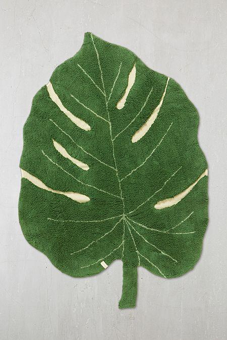 Tapis Lavable Motif Feuille De Philodendron Tropical Leaf Fruit