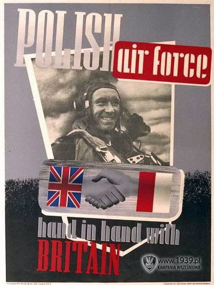 Polish air force hand in hand with Britain
