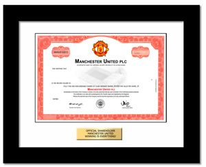 Manchester United stock from www.GiveAshare.com . True ownership of the team you love. Go Big Red!