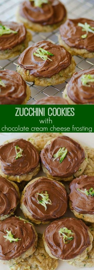These zucchini cookies are the BEST I've made! So soft and that frosting is to die for