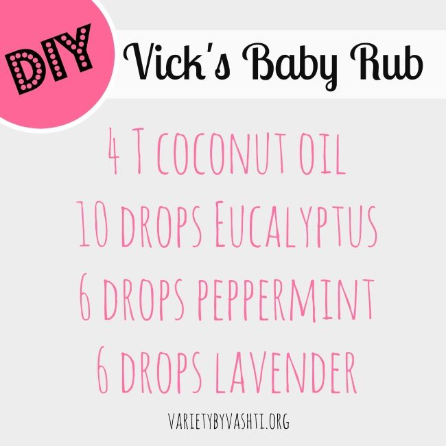 DIY Vicks baby rub and other essential items to keep parents from going crazy with a sick baby!