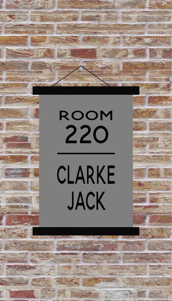 Custom Dorm Room Number Name Hanging Canvas Print Banner