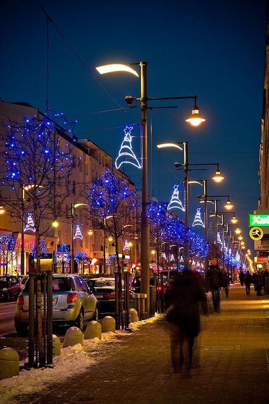 Gdyńska iluminacja świąteczna na ul. Świętojańskiej / Christmas lights in Gdynia streets | fot. Marcin Kostrzyński #christmas #iluminacja #gdynia