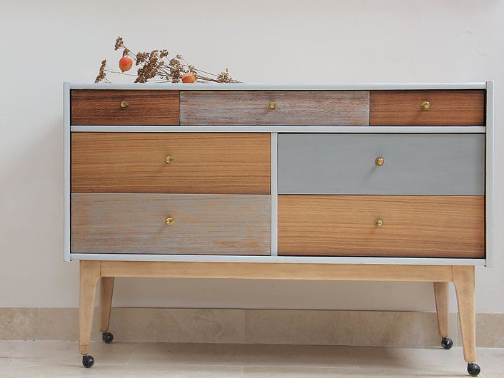 affordable handpainted bespoke mid century retro furniture dressing drawers cambridge UK