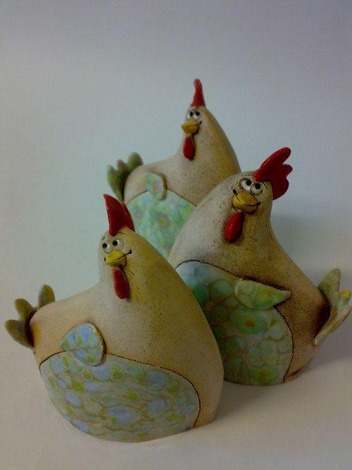 Happy Hens (ceramic) Akoca & Ufola