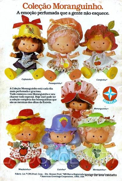 Album de Figurinhas Moranguinho e sua turma de 1984