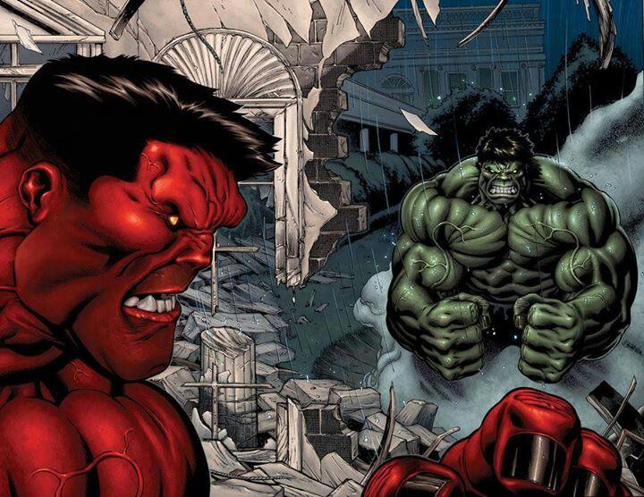 Red and Green Hulk | Superheros | Pinterest