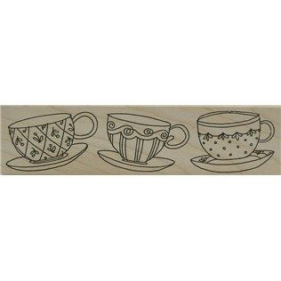 Printworks Teacup Parade Rubber Stamp | Shop Hobby Lobby