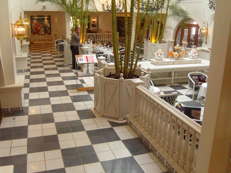Terrazzo tiles supplied to Five star Oyster Box Hotel Umlhanga Rocks Kwazulu natal in a classic retro style!