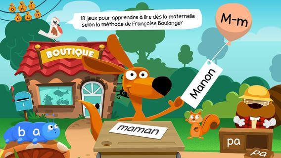 Application Apprendre à Lire : Le bonheur de lire. Pour les 3 - 8 ans. App-Enfant.fr.