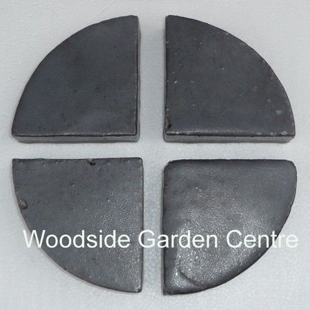 Glazed Round Gun Metal Pot Feet | Woodside Garden Centre | Pots To Inspire