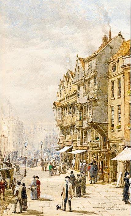 Drury Lane running into High Holborn, London, by  LOUISE RAYNER
