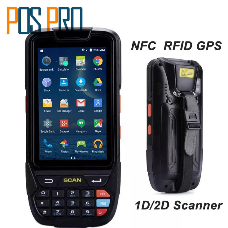 PDA <font><b>2D</b></font> Handheld Terminal Support Wifi Bluetooth 4g GPS Camera Mini <font><b>Barcode</b></font> Scanner For Android Tablet Pc Keyboard NFC HF LF RFID