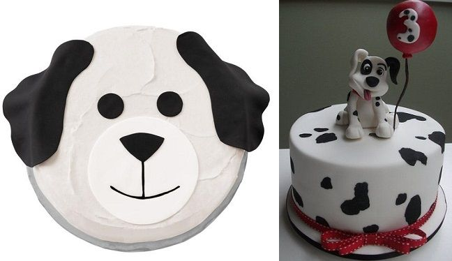 step by step dalmatian dog cake model - Google Search