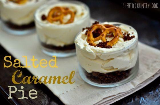 Salted Caramel Pie! Cream cheese, whipped cream, caramel sauce ...