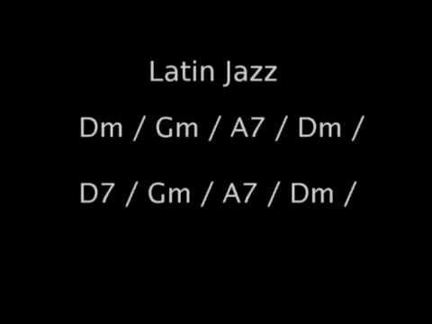Latin Jazz backing track in Dm - YouTube