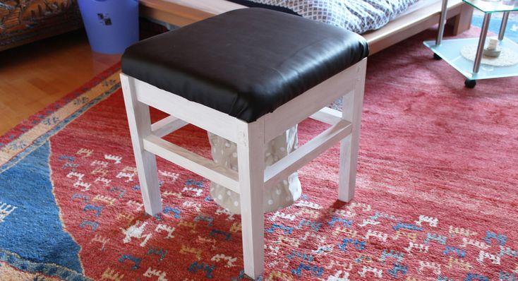 Laundry stool DIY by Meinekleinewohnung.de Wäschehocker DIY