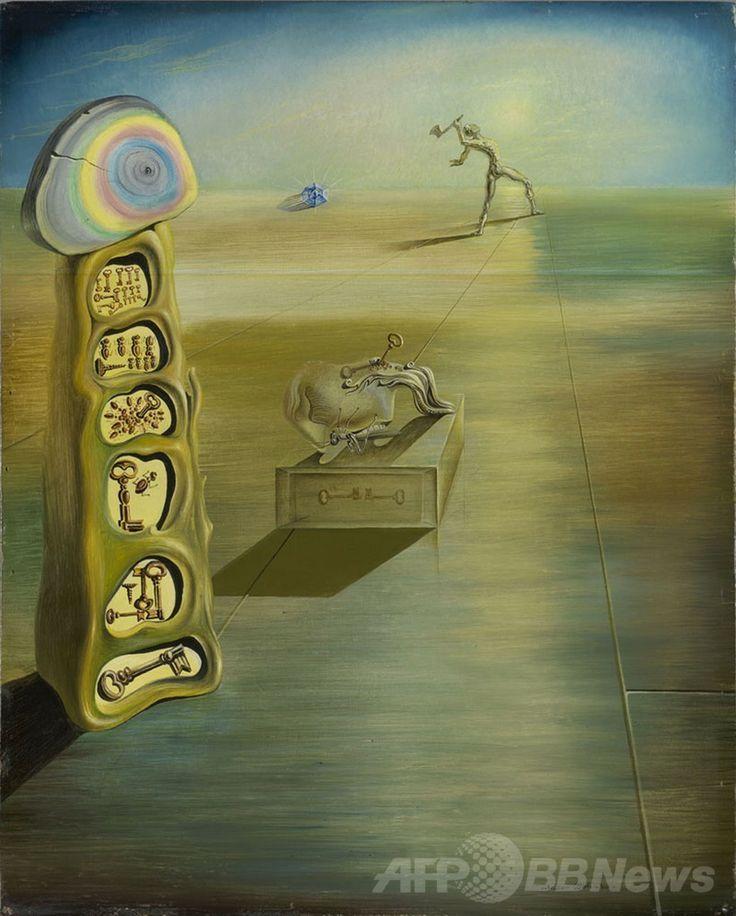 サルバドール・ダリ(Salvador Dali)作品と認定された「欲望の自由な傾向(Free Inclination of Desire)」(2014年5月13日提供)。(c)AFP/GALA-SALVADOR DALI FOUNDATION/VEGAP ▼14May2014AFP 所在不明のダリ作品2点、米大学などで発見 http://www.afpbb.com/articles/-/3014866 #Salvador_Dali #Free_Inclination_of_Desire