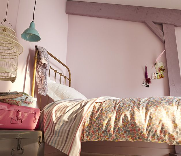 <span>Bonbon fruité</span><br/>Un joli camaïeu de rose tout en subtilité et douceur qu'on imagne parfaitement dans une chambre de fille. http://www.castorama.fr/store/pages/zoom-sur-colours-respirea-pachmina.html