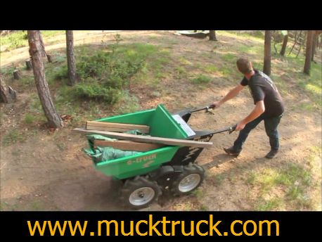 electric wheelbarrow, powered wheelbarrow, motorized wheelbarrow