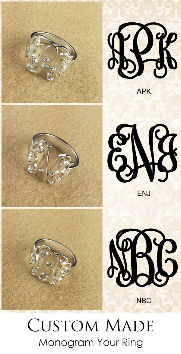 Personalized your initials with our amazing silver Monogram Ring made from hand-drawn font, you can also opt for an 18-carat gold/rose gold plated. It is great gifts idea for her from graduation/birthday to Christmas!