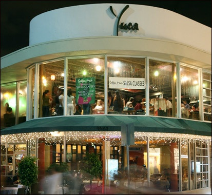 Miami Beach Restaurant -- amazing food(try the mushrooms stuffed with ricotta) and salsa classes/dancing at night!