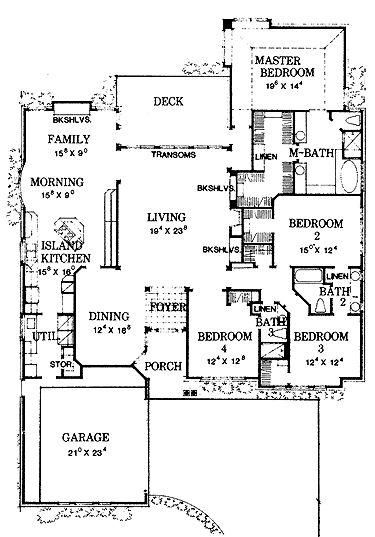 Four Bedroom New American (HWBDO58780)   New American House Plan From  BuilderHousePlans.com