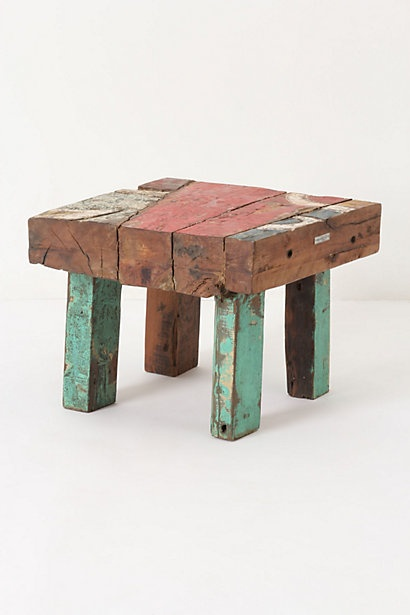 Square Reclaimed Boat Coffee Table #anthropologie