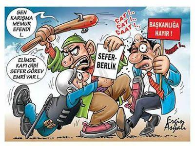 Siyasi Karikatürler: Seferberlik - Ergin Asyalı