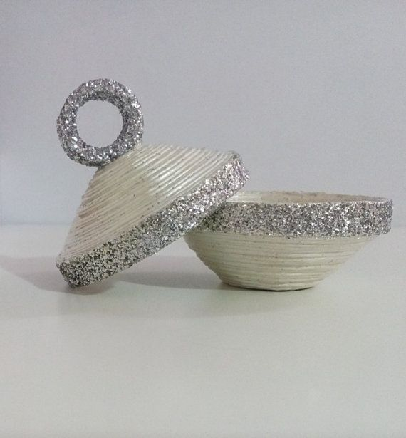 Shiny Ring Holder / Wedding Ring Box / Earring by HomeDecoByAna