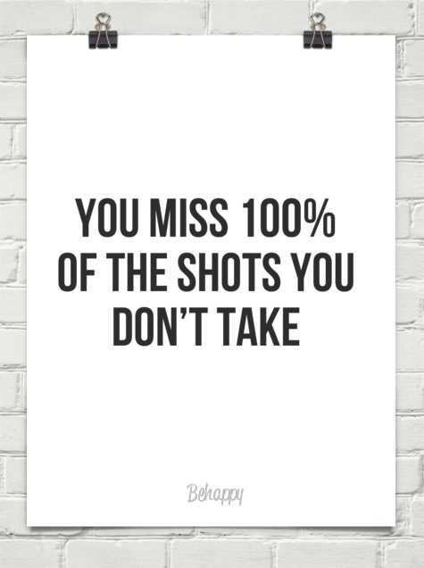 Never be afraid to shoot cause you'll never know if you make it unless you shoot it.