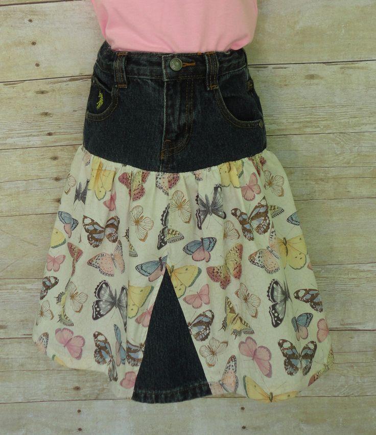Toddler Skirt Upcycled Demin Little Girls Denim