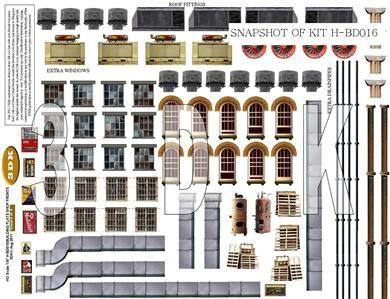 Free printable ho scale buildings ho scale ho scale - Printable ho scale building interiors ...