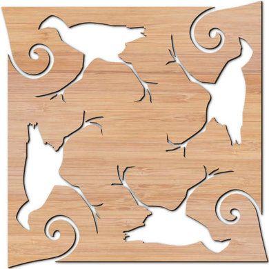 Inspired by New Zealand Bird (Pukeko) and Fern, a Bamboo ($23) or Cork ($14) Trivet #bamboo #trivet #pukeko