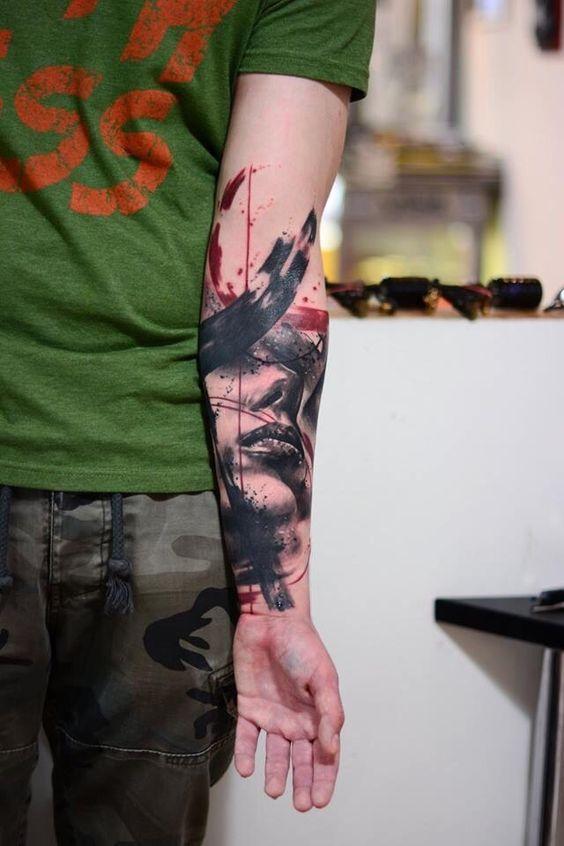 Trash Tattoo. Macho Moda - Blog de Moda Masculina: Trash Tattoo: Conheça o Estilo de Tatuagem Trash, pra Inspirar. Tatuagem Trash, Tattoo Trash, Tatuagem, Tattoo, Trash Polka Tattoo, o que é?