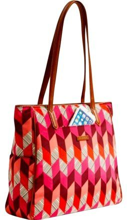 17bf284166bc Vera Bradley New Poly Zip Top Shoulder Bohemian Chevron Preppy Polyester  Fabrication Tote. Get one of the hottest styles of the season!