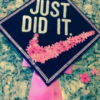67 best grad cap ideas images on pinterest graduation cap cute graduation cap with a floral check awesome graduation cap ideas publicscrutiny Choice Image