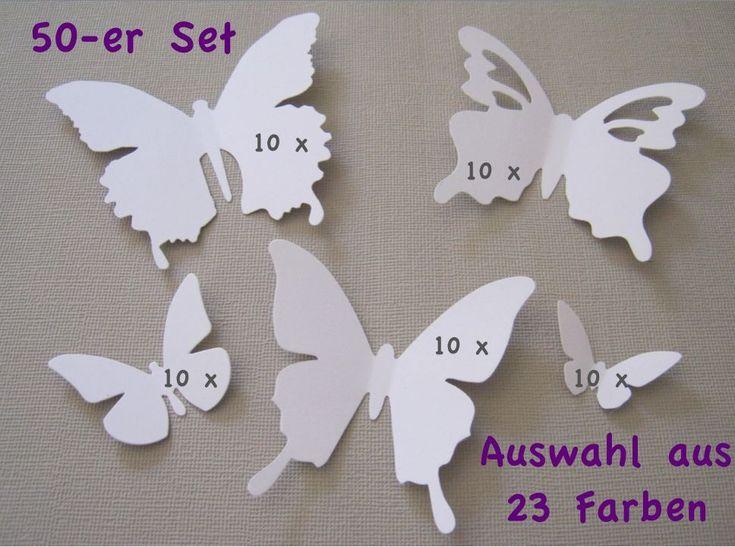 Ideal er Set D Schmetterlinge Wanddeko Wandtattoo FARBWAHL Ein Set enth lt Schmetterlinge in