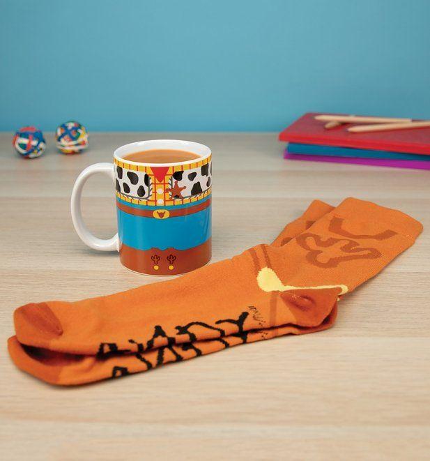 Official Disney Pixar Toy Story Woody Mug and Socks Set