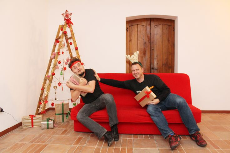"""Christmas fun at the office - It's """"Love Thy Co-worker Day"""" obviously"""
