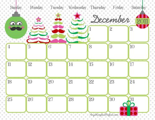 Free!!!! Awesome monthly printable calendars- I wish I knew how to create calendars like these!