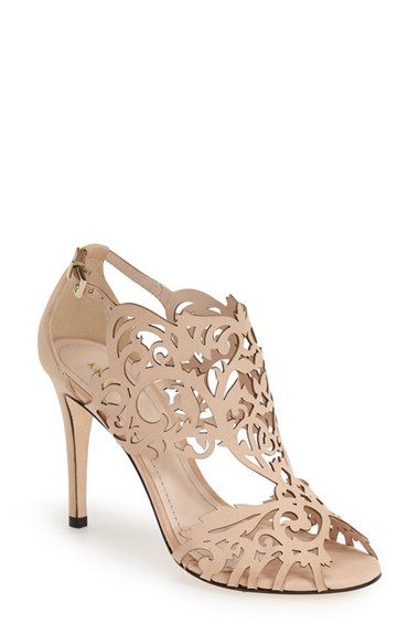 Klub Nico 'Marcela' Laser Cutout Sandal (Women) available at #Nordstrom Rather have them in nude color.