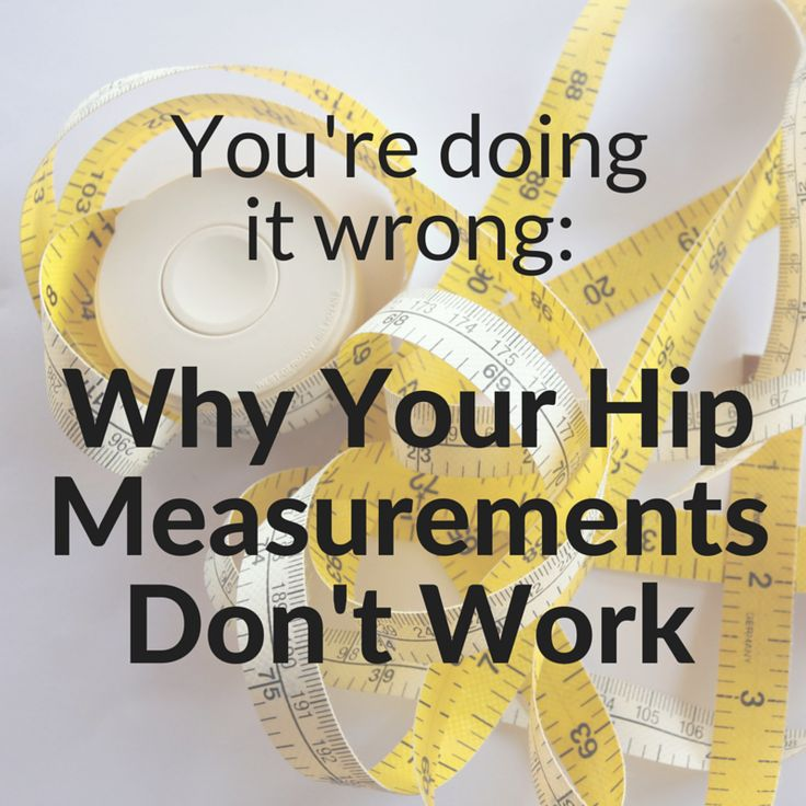 How to correctly measure hips