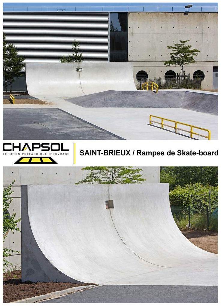 Sur le même thème des aires de jeux, Chapsol avait déjà réalisé en 2014 à Saint-Brieuc (Côtes d'Armor/22) de très belles et imposantes rampes de skate-board pour le plus grand plaisir des amateurs !