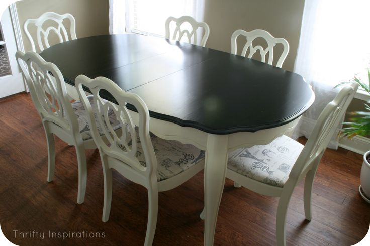 Top 25 ideas about refinished dining tables on pinterest for Refinishing dining room chairs